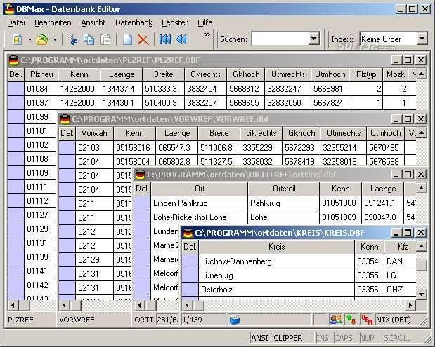 Geodaten German Admin Screenshot 2