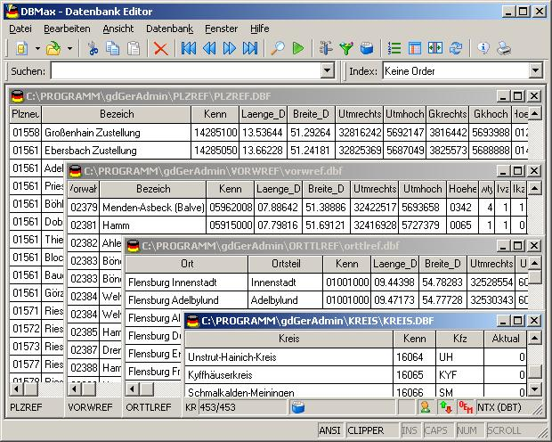 Geodaten German Admin Screenshot