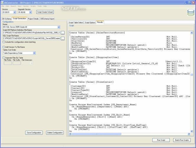 dbConstructor Screenshot 2