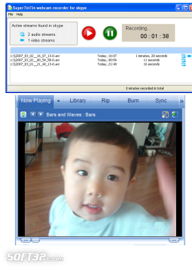 Supertintin Skype Video Call Recorder Screenshot 3
