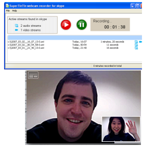 Supertintin Skype Video Call Recorder Screenshot 1