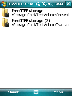 FreeOTFE4PDA Screenshot
