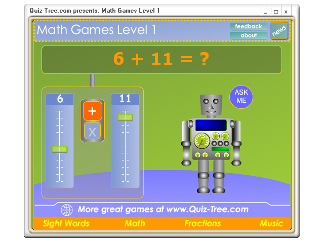 Math Games Level 1 Screenshot