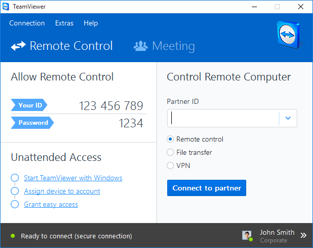 TeamViewer Screenshot 1