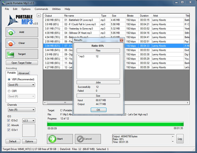 Portable Mp3 Screenshot