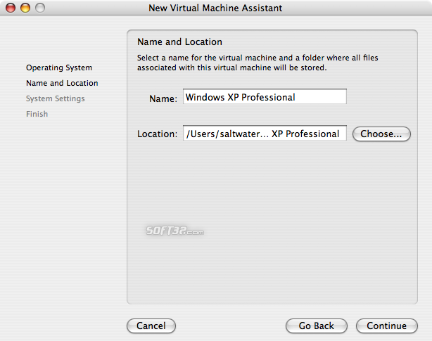 VMWare Fusion Screenshot 3