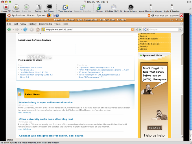VMWare Fusion Screenshot 7