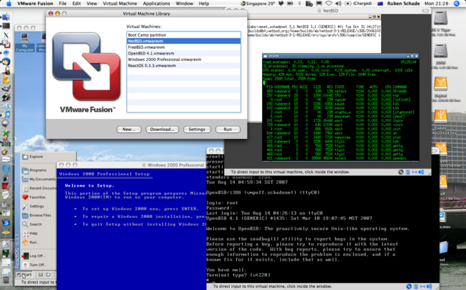 VMWare Fusion Screenshot 1