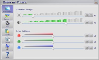 Display Tuner Screenshot