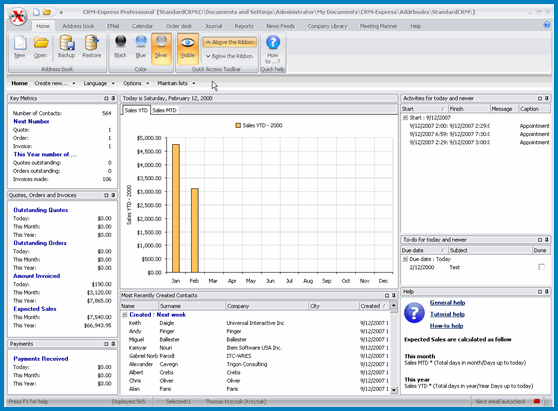 CRM-Express eSales Screenshot