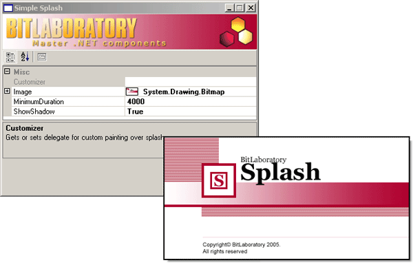 Splash Screen Component Screenshot