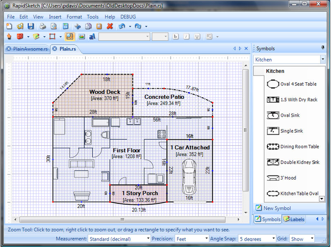 RapidSketch-Floor Plan & Area Calculator Screenshot