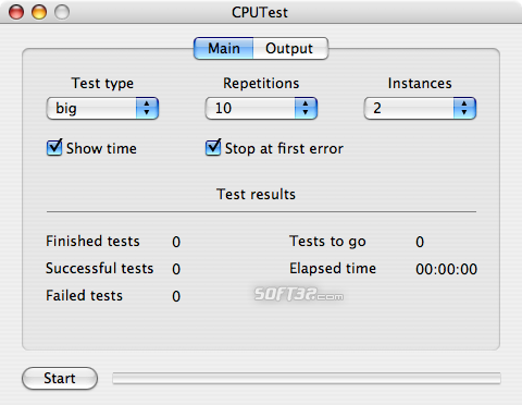CPUTest Screenshot