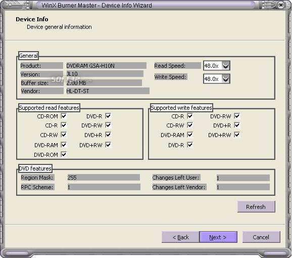 WinX Burner Master Screenshot 3