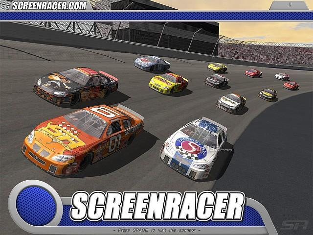 3D Stockcar Screensaver Screenshot 1