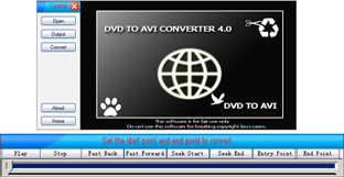 MasterSoft DVD to AVI Converter Screenshot 1