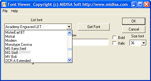 Font Viewer Screenshot 2