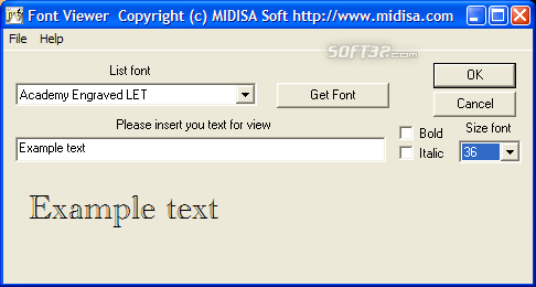 Font Viewer Screenshot 1