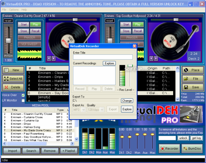 Virtual Deck DJ Mixing Suite Screenshot 2