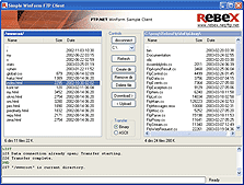 Rebex FTP Screenshot