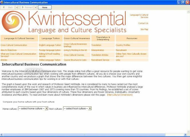Intercultural Business Communication Screenshot
