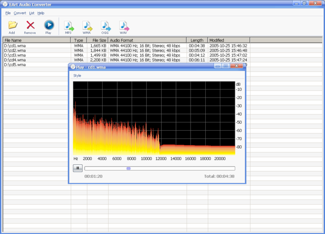 EArt Audio Converter Screenshot 1