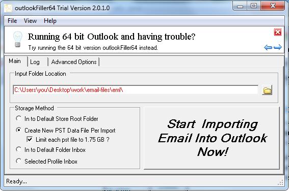 outlookFiller Screenshot 1