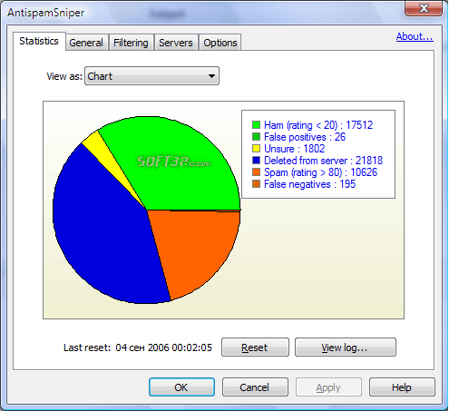 AntispamSniper for Windows Mail Screenshot 2