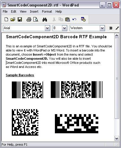 SmartCodeComponent2D Barcode Screenshot 3