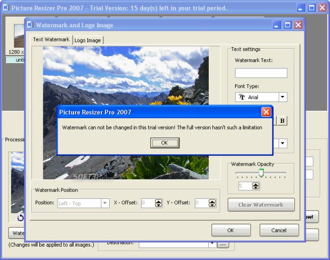 Picture Resizer Pro 2007 Screenshot 4