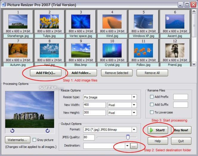 Picture Resizer Pro 2007 Screenshot 2