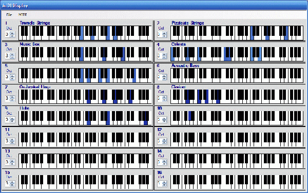 MIDI Display Screenshot