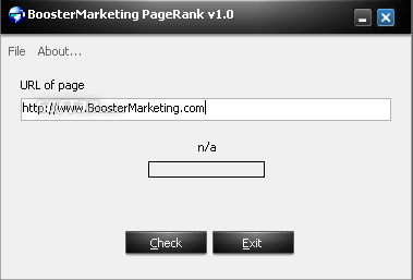 BoosterMarketing Page Rank Screenshot