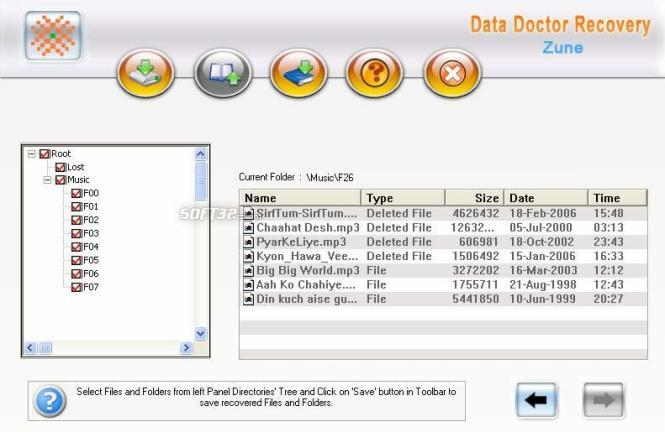 Zune Files Data Recovery Screenshot 2