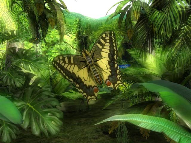 Butterfly Jungle 3D Screensaver Screenshot 1