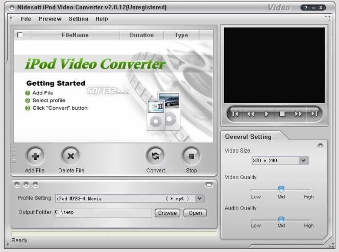 Nidesoft iPod Video Converter Screenshot 3