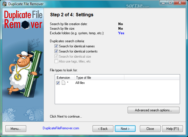 Duplicate File Remover Screenshot 4