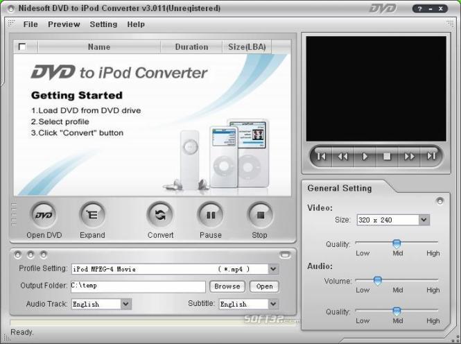 Nidesoft DVD to iPod Suite Screenshot 2