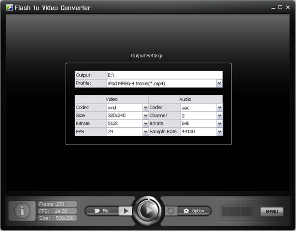 Flash to Video Converter Screenshot