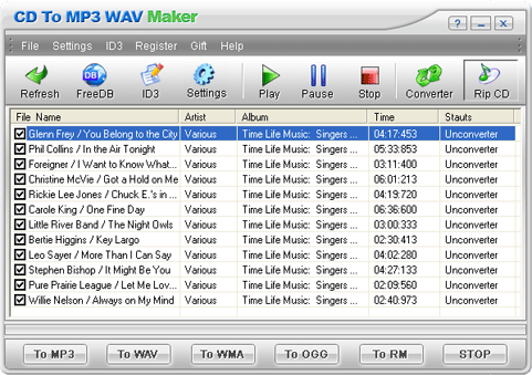 CD To MP3 WAV Maker Screenshot 1