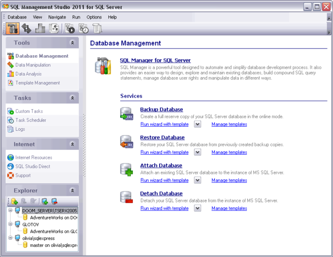 EMS SQL Management Studio for SQL Server Screenshot 1