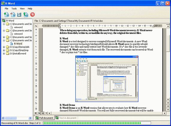 R-Word Recovery Screenshot