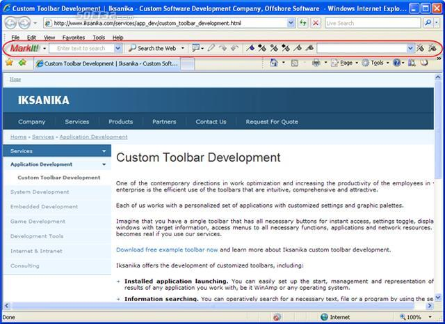 Bookmark Toolbar Screenshot 2