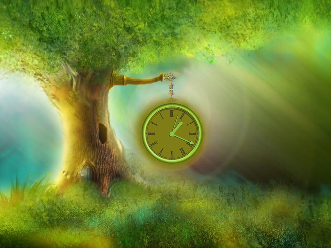 Magic Tree Clock ScreenSaver Screenshot