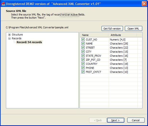 Advanced XML Converter Screenshot 3