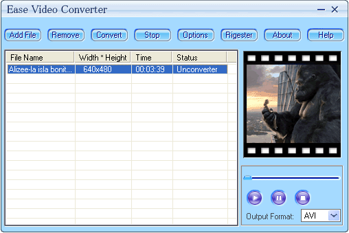 Ease Video Converter Screenshot