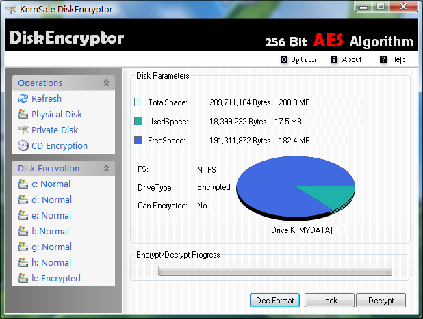 DiskEncryptor Screenshot