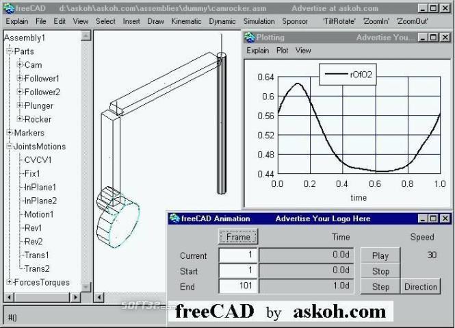 freeCAD Screenshot 1