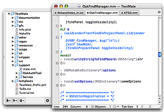 TextMate Screenshot 1
