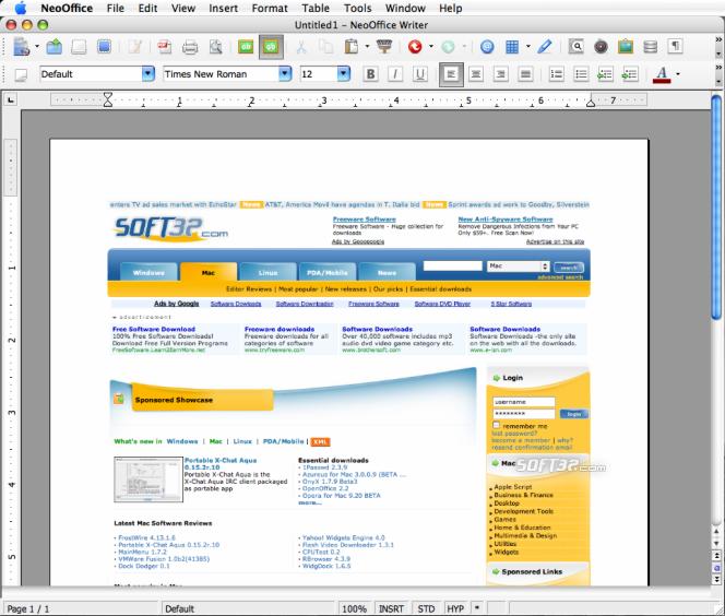 NeoOffice Screenshot 2